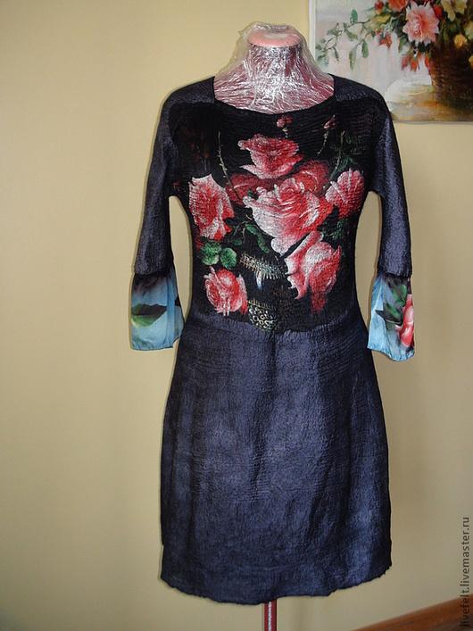 Платья ручной работы. Ярмарка Мастеров - ручная работа. Купить Валяное  коктейльное платье 2 в 1. Handmade. Жакет, теплый
