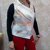 Одежда ручной работы. Ярмарка Мастеров - ручная работа жилет персик на белом. Handmade.