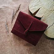 Сумки и аксессуары ручной работы. Ярмарка Мастеров - ручная работа Замшевая насыщенного оттенка марсала сумка Libra с кисточкой. Handmade.