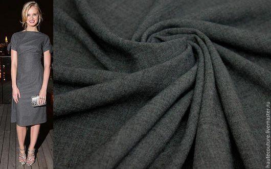 Шитье ручной работы. Ярмарка Мастеров - ручная работа. Купить Шерсть тонкая! Италия!. Handmade. Темно-серый, ткани для шитья