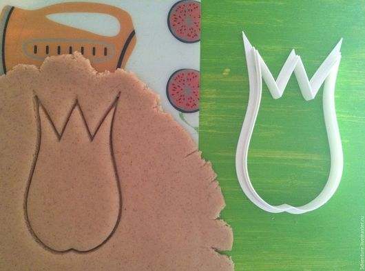 Кухня ручной работы. Ярмарка Мастеров - ручная работа. Купить Форма для печенья Тюльпан. Handmade. Разноцветный, формочка для печенья
