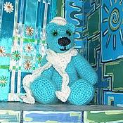Куклы и игрушки ручной работы. Ярмарка Мастеров - ручная работа Еще одна голубая мишка. Handmade.