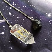 Фен-шуй и эзотерика handmade. Livemaster - original item Quartz pendulum with glass. Handmade.
