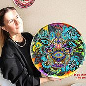 Картины и панно handmade. Livemaster - original item Large plate on the wall