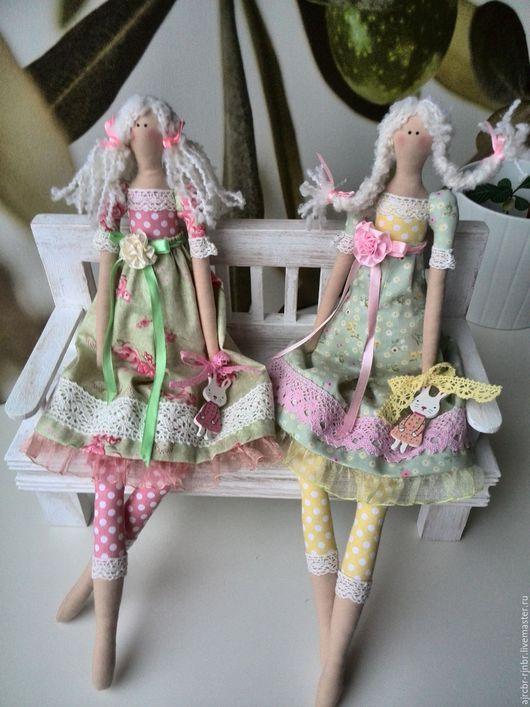 Куклы Тильды ручной работы. Ярмарка Мастеров - ручная работа. Купить Куклы тильды Ася и Тася. Handmade. Зеленый