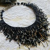 Украшения handmade. Livemaster - original item Necklace with black pearls. Handmade.