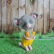 Куклы и игрушки handmade. Livemaster - original item Gray mouse. Handmade.
