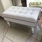 Банкетки ручной работы. Ярмарка Мастеров - ручная работа Банкетка скамейка с ящиком для вещей - белая. Handmade.