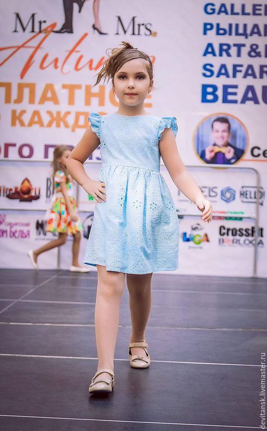 Одежда для девочек, ручной работы. Ярмарка Мастеров - ручная работа. Купить Детское платье для девочки из вышитого батиста. Handmade.