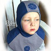 Работы для детей, ручной работы. Ярмарка Мастеров - ручная работа Комплект для мальчика - шапка и шарф - манишка. Handmade.