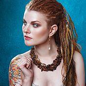 Украшения handmade. Livemaster - original item Chocolate braided necklace. Handmade.