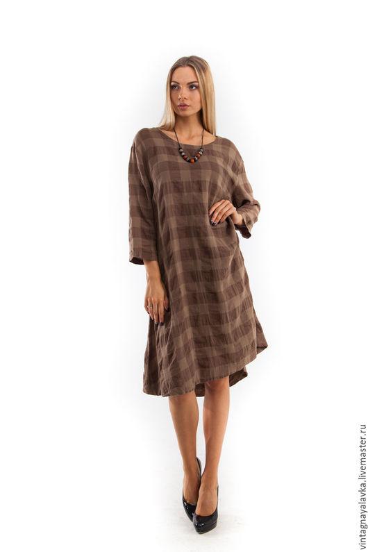 """Платья ручной работы. Ярмарка Мастеров - ручная работа. Купить Платье """"Клин"""". Handmade. Дизайнерское платье, льняное платье"""