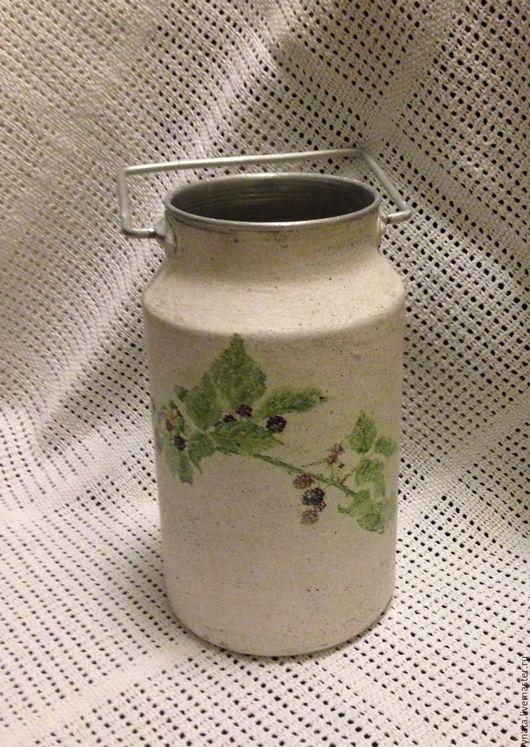 Цветочные горшки ручной работы. Ярмарка Мастеров - ручная работа. Купить Бидон ежевика. Handmade. Бежевый, ежевика, ваза, цветы