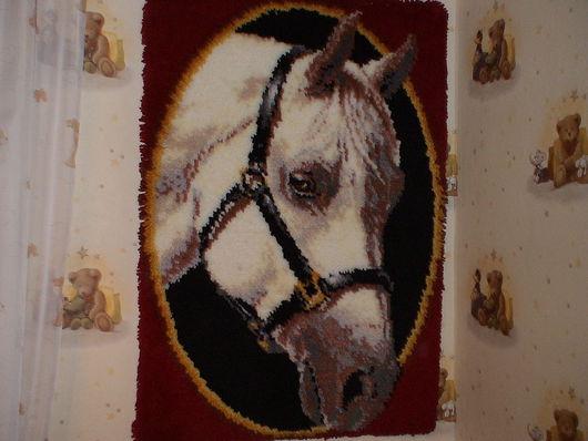 Животные ручной работы. Ярмарка Мастеров - ручная работа. Купить Портрет арабской лошади. Handmade. Бордовый, панно, лошадь