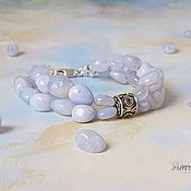 Украшения handmade. Livemaster - original item Copy of Delicate Natural Lacy Blue Agate Bracelet. Handmade.