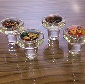 Свадебный салон handmade. Livemaster - original item vinolok glass cover 3-D (4 pieces) vinolok glass closure. Handmade.