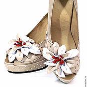 Обувь ручной работы. Ярмарка Мастеров - ручная работа Жеские туфли со стразами. Handmade.