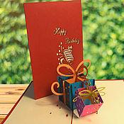"""Открытки ручной работы. Ярмарка Мастеров - ручная работа Открытка """"С Днём Рождения!"""". Handmade."""