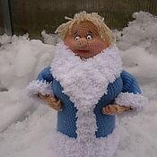 Снегурочка Фрося (вязаная снегурочка, вязаная кукла, Новый год)