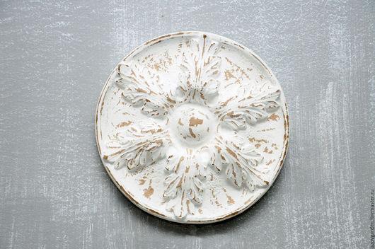 Элементы интерьера ручной работы. Ярмарка Мастеров - ручная работа. Купить Розетка Белый цветок из бетона в стиле Винтаж, Прованс. Handmade.