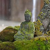 Цветы и флористика handmade. Livemaster - original item A figure of Buddha made of concrete with moss for Floriana and terrarium. Handmade.