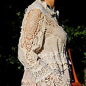 Одежда handmade. Livemaster - original item BOHO dress with collection of lace (364). Handmade.