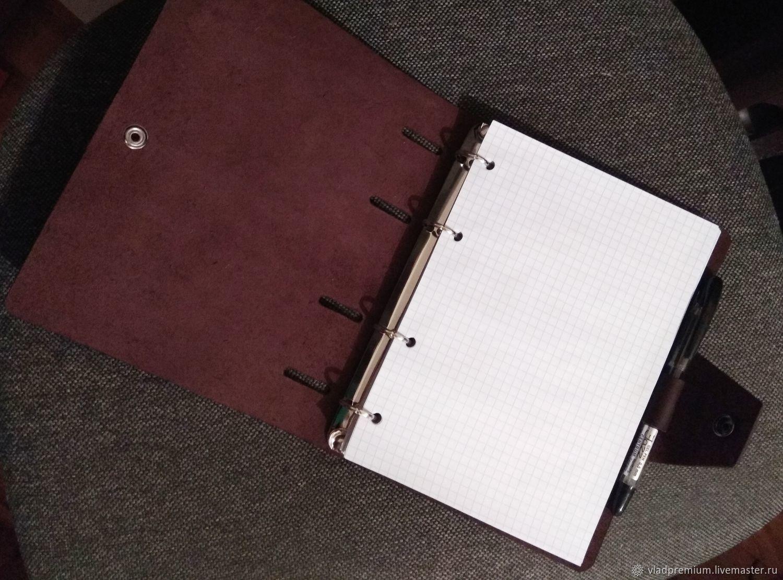 Блокнот ручной работы из натуральной плотной кожи, Блокноты, Владивосток,  Фото №1
