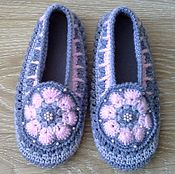 9bdafd0a511cbe Обувь ручной работы handmade. Livemaster - original item Slippers crocheted