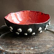 """Посуда ручной работы. Ярмарка Мастеров - ручная работа """"Про грибы :)"""", чаша, керамика ручной работы. Handmade."""