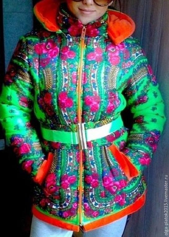 Мастер класс куртка из платков