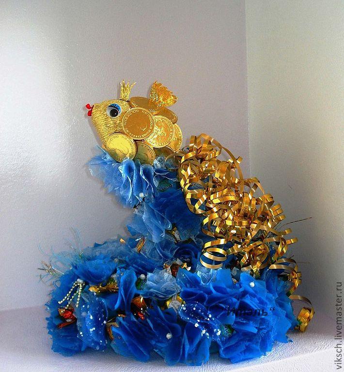 Золота рыбка из конфет мастеркласс / Бесплатный каталог цифровых иллюстраций