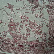 Для дома и интерьера ручной работы. Ярмарка Мастеров - ручная работа Скатерть льняная жаккардовая с китайским  рисунком. Handmade.