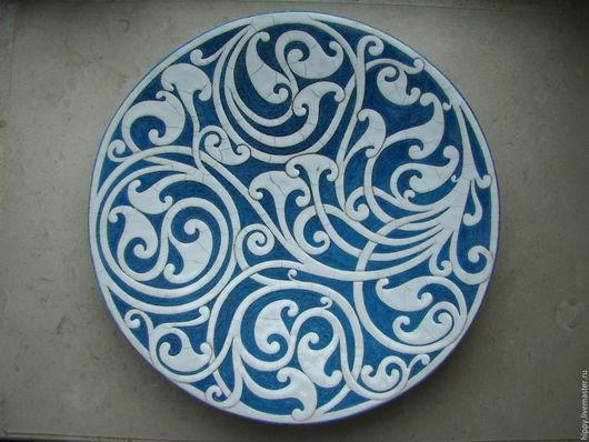 Тарелки ручной работы. Ярмарка Мастеров - ручная работа. Купить Иней. Керамическое блюдо.. Handmade. Керамика, посуда, блюдо, тарелка