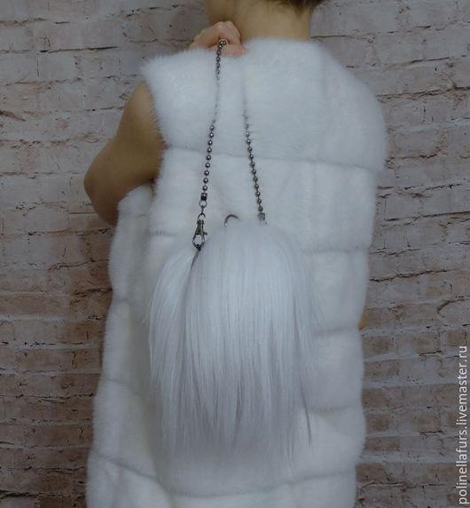 Верхняя одежда ручной работы. Ярмарка Мастеров - ручная работа. Купить Жилет из белоснежной норки. Handmade. Купить в москве