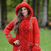 Одежда ручной работы. Ярмарка Мастеров - ручная работа Пальто вязаное 16wj06. Handmade.
