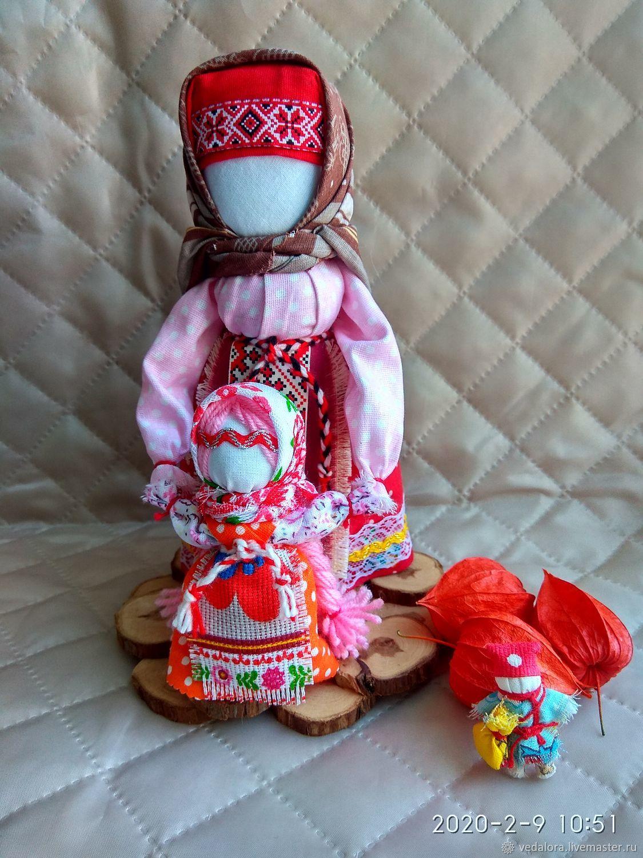Народная кукла Ведучка с девочкой оберег помощница, Народная кукла, Салават,  Фото №1