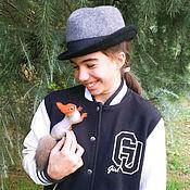 Украшения handmade. Livemaster - original item Handmade squirrel brooch felted wool squirrel. Handmade.