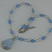 Украшения handmade. Livemaster - original item Necklace with pendant made of natural stones