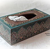 Для дома и интерьера handmade. Livemaster - original item Box for napkins, napkin holder