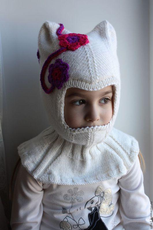 Шапки и шарфы ручной работы. Ярмарка Мастеров - ручная работа. Купить Шапочка-шлем (2 слоя). Handmade. Белый