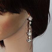 Украшения handmade. Livemaster - original item earrings long flower story earrings for bride. Handmade.
