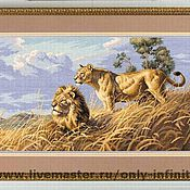 Картины и панно ручной работы. Ярмарка Мастеров - ручная работа Африканские Львы. Handmade.