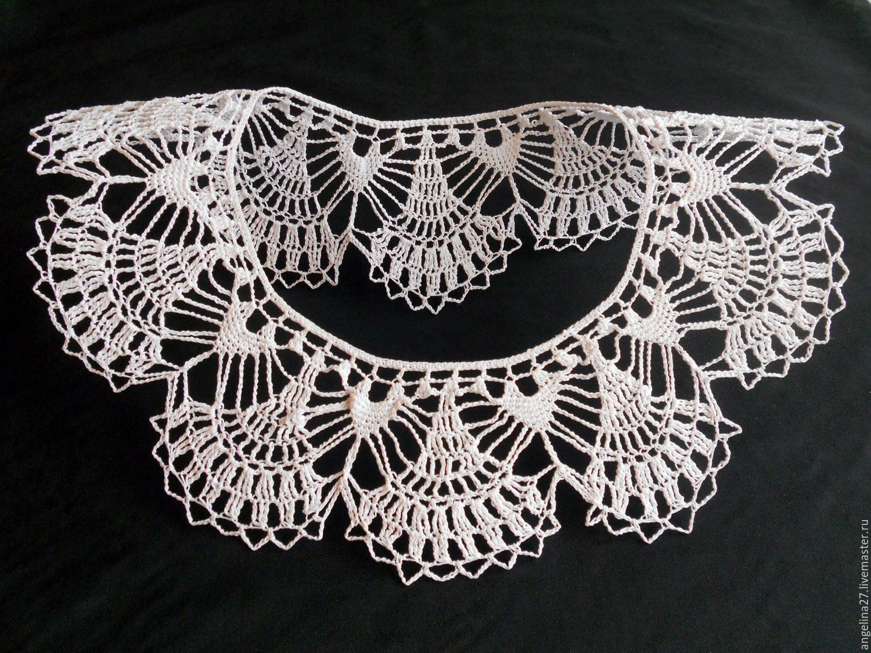 Collar 'White dandelion' crocheted, Collars, Tomsk,  Фото №1