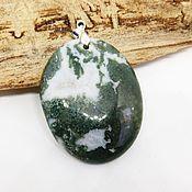 Украшения handmade. Livemaster - original item Pendant made of quartz with chlorite Snow and forest. Handmade.