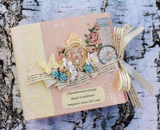 Подарки на свадьбу ручной работы. Ярмарка Мастеров - ручная работа. Купить сберкнижка для молодоженов  на свадьбу 18 (Сберегательная книжка). Handmade.
