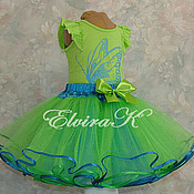 Одежда handmade. Livemaster - original item Double-sided skirt on the yoke for girls. Handmade.