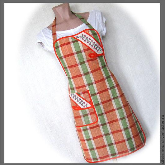 """Кухня ручной работы. Ярмарка Мастеров - ручная работа. Купить Фартук с карманом """"Вкусная кухня""""-2. Handmade. Фартук, хлопок"""