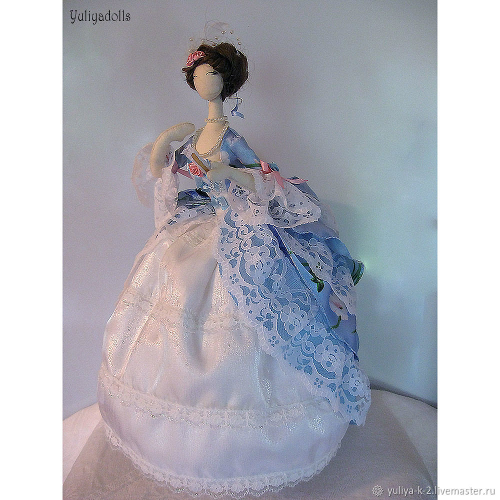 Кукла тряпиенс Виолетта, Будуарная кукла, Энгельс,  Фото №1