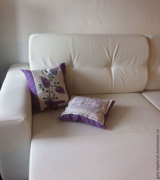 Текстиль, ковры ручной работы. Ярмарка Мастеров - ручная работа. Купить по-душки стиль прованс лавандовый. Handmade. Прованс