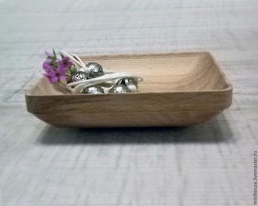 Декоративная посуда ручной работы. Ярмарка Мастеров - ручная работа. Купить Тарелка деревянная прямоугольная. Handmade. Бежевый, Тарелка декоративная
